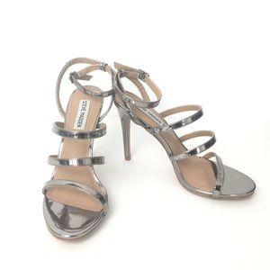 Steve Madden silver strap heels size 8.5